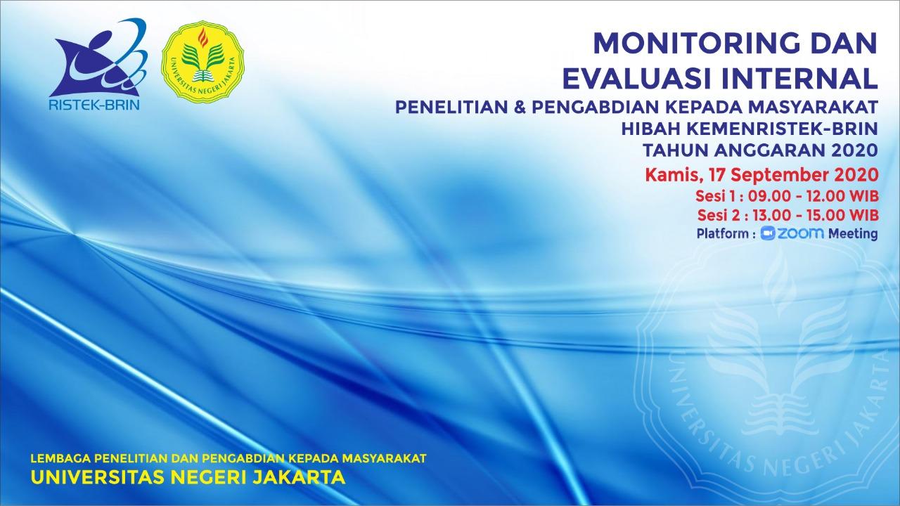 Monev Internal Penelitian DRPM Lanjutan dan Mono tahun pendanaan 2020